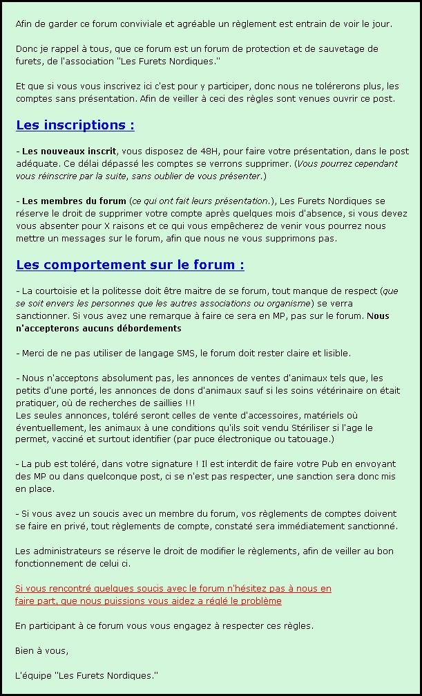 Le réglement du forum. Reglem10