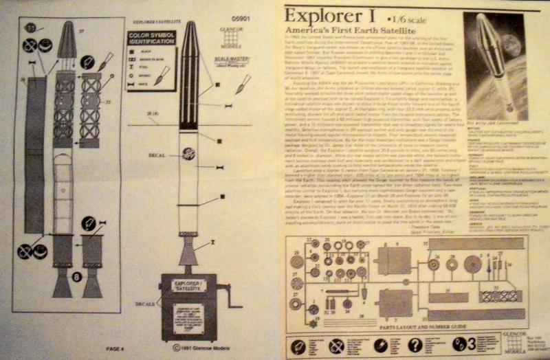 Explorer I Satellitenbausatz von Glencoe Models in 1:6. Dscf2816