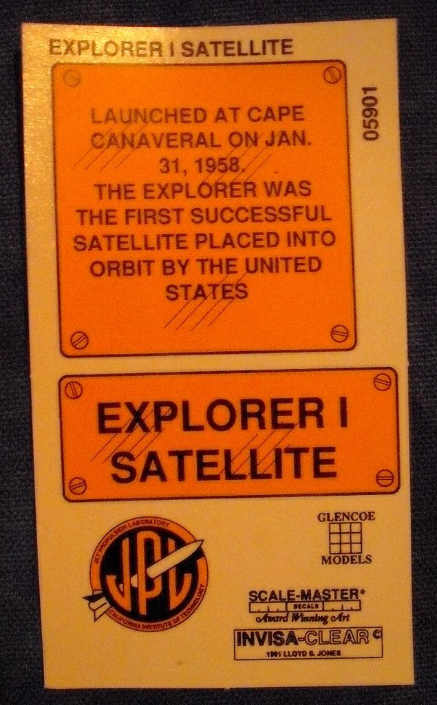 Explorer I Satellitenbausatz von Glencoe Models in 1:6. Dscf2818