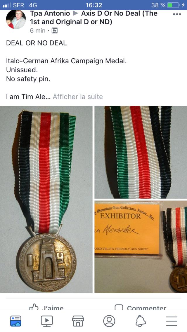 Médaille Afrikakorps 39c77e10