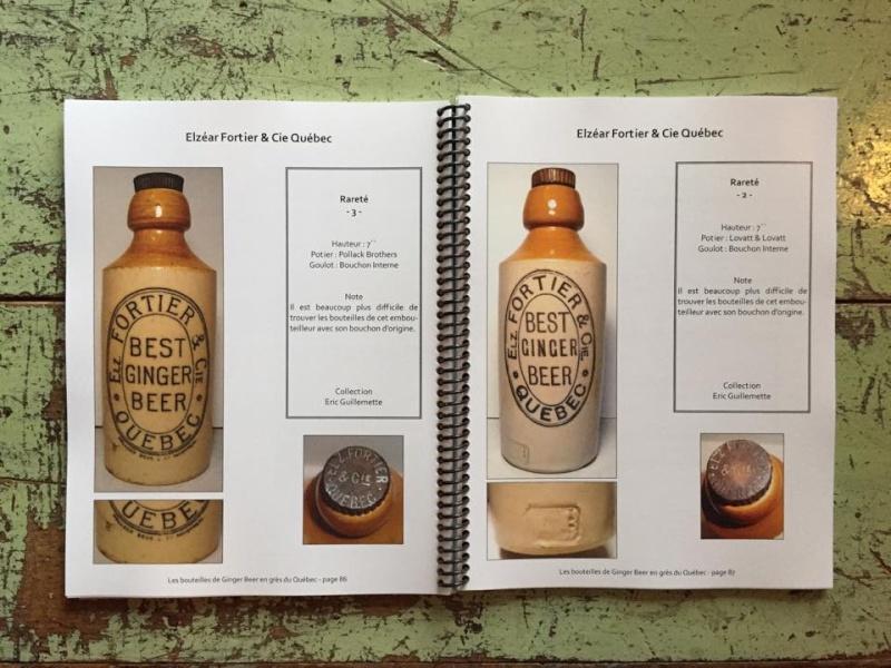 le livre sur les bouteilles de ginger beer en gres du quebec L210