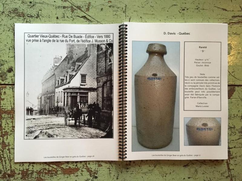 le livre sur les bouteilles de ginger beer en gres du quebec L310