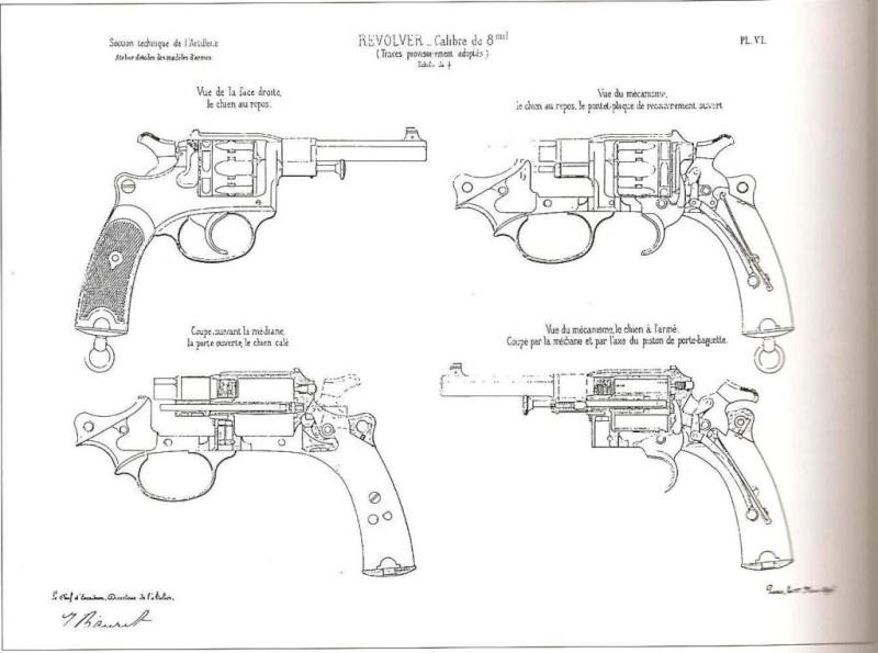 Revolver M.A.S. ? Mle 1888 civil ? Plan-r10