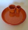 Pottery desk tidy pen tray/holder? Unmarked Img_5630