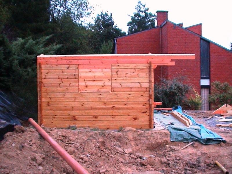 Construction d'un chalet de jardin Madria10