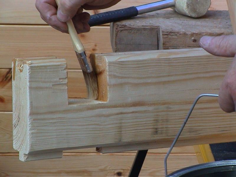 Construction d'un chalet de jardin Potect10