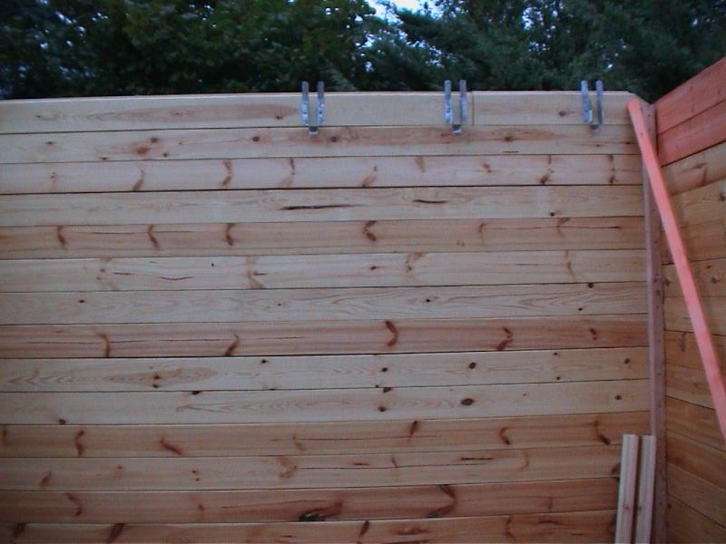 Construction d'un chalet de jardin Suppor10
