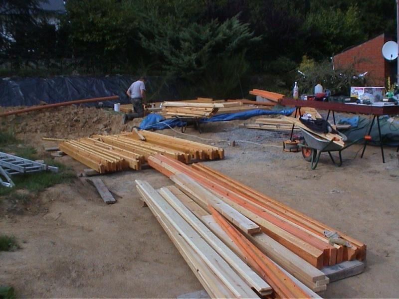 Construction d'un chalet de jardin Triage10