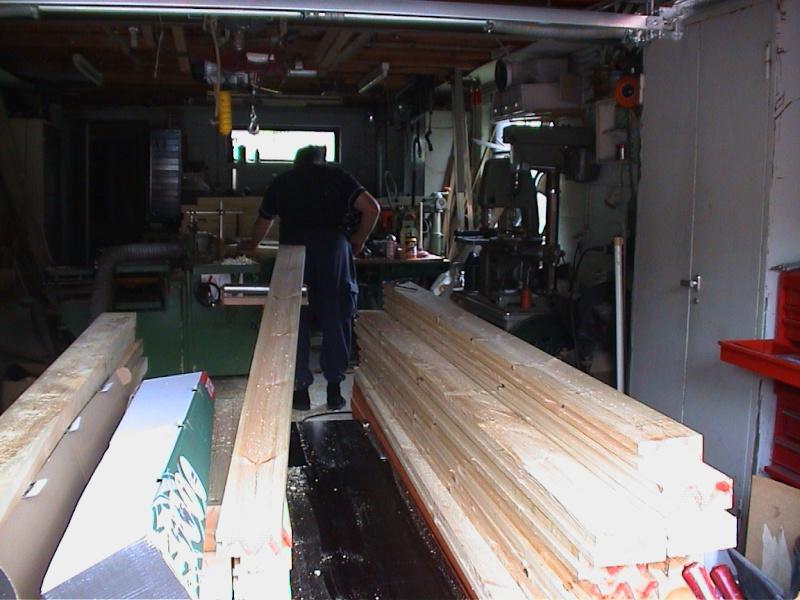 Construction d'un chalet de jardin Usinag10