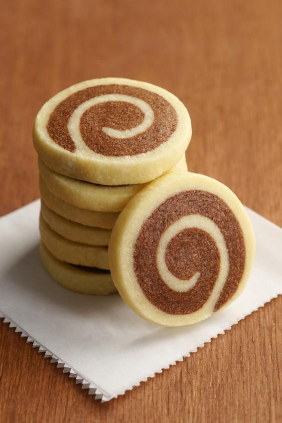 Sablés Escargots au Chocolat et à la Vanille -13