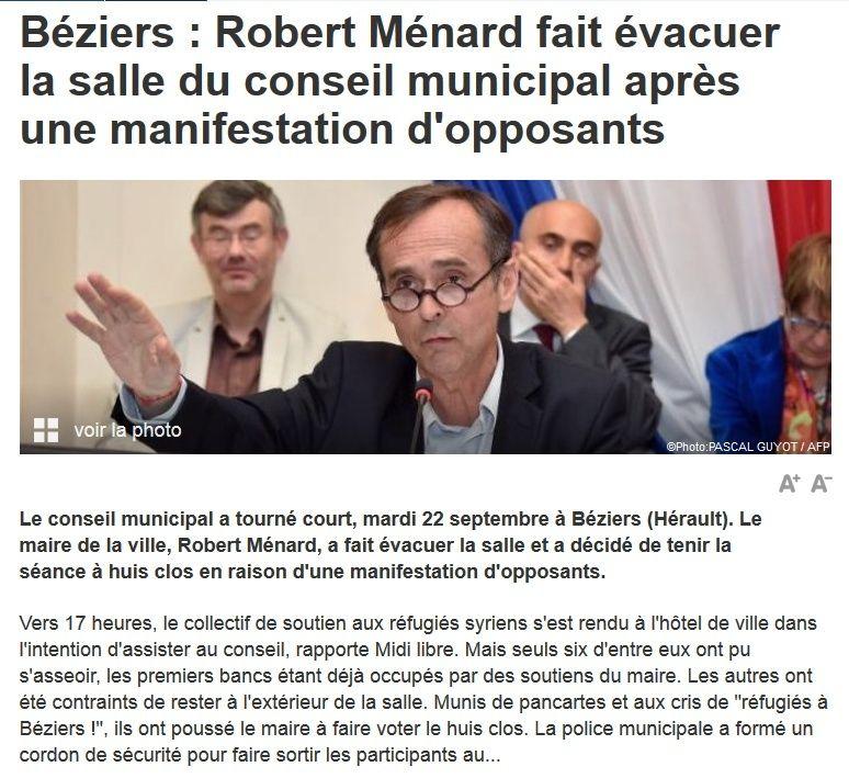 Face à la gauche sectaire et hystérique qui demande sa révocation, je signe la pétition de soutien à Robert Ménard   2015-013