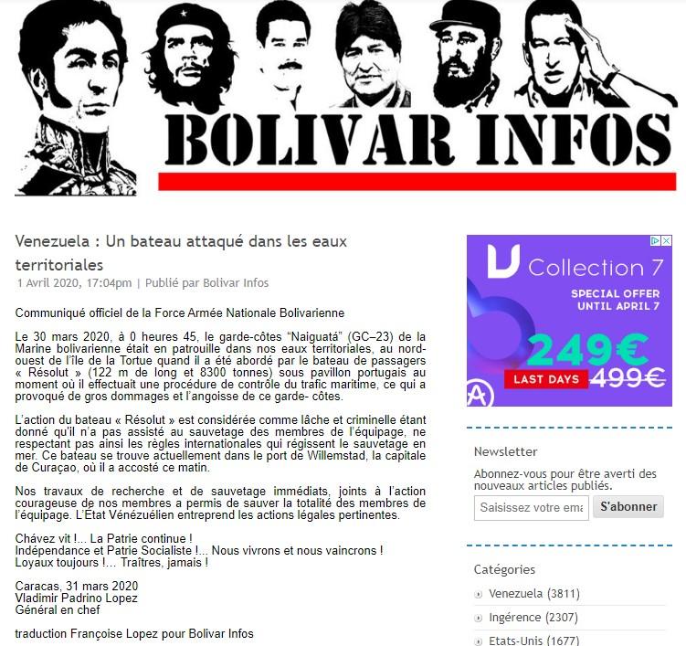 Armada Nacional de Venezuela (Marine vénézuélienne) Collis10