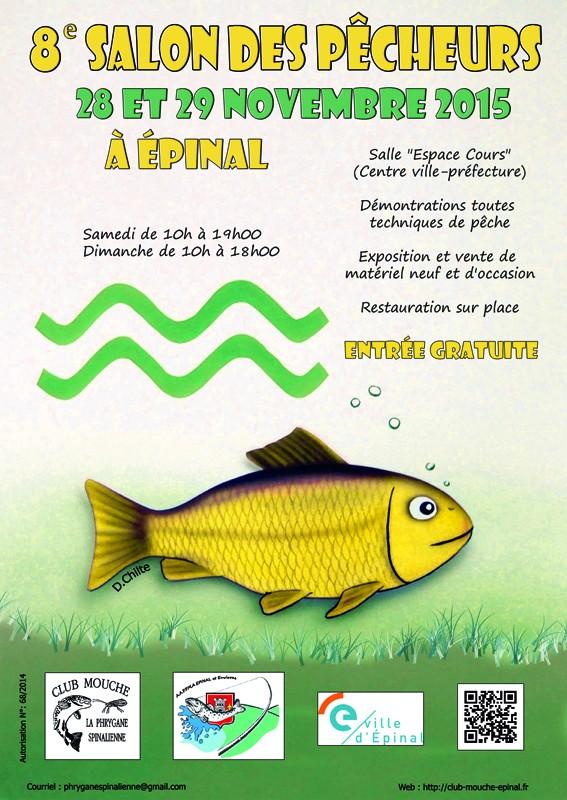 Salon de la pêche d'Epinal - 28 et 29 novembre 2015 Affich10