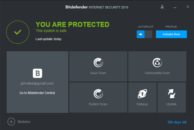 Bitdefender Internet Security 2016 - Ransomware Protection Bitdef10