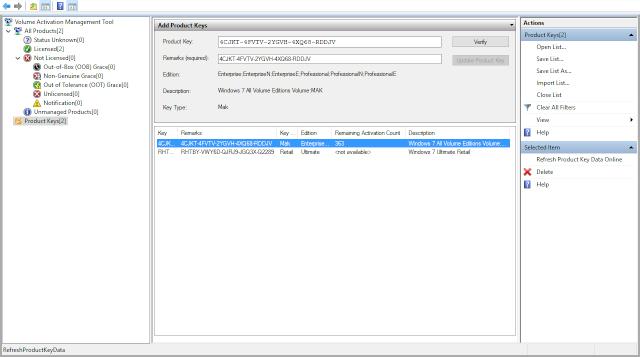VAMT 2.0 Phần mềm kiểm tra key WINDOWS và OFFICE Vamt_211