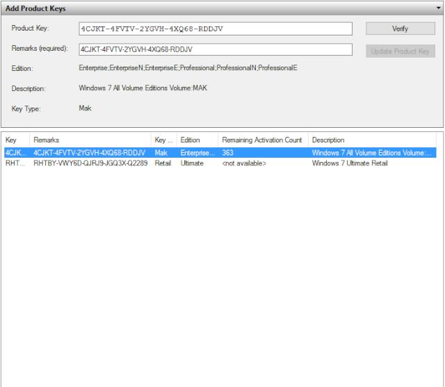 VAMT 2.0 Phần mềm kiểm tra key WINDOWS và OFFICE Vamt_212