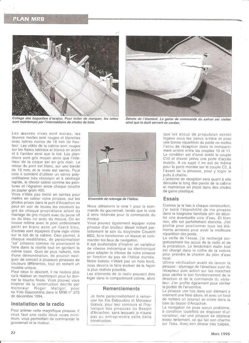 Pinasse du bassin d'Arcachon au 1/10ieme d'après plan bateau modèle de 1995 - Page 3 0110