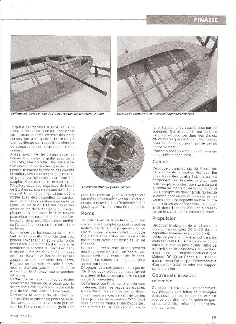 Pinasse du bassin d'Arcachon au 1/10ieme d'après plan bateau modèle de 1995 - Page 2 0411