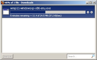 Download Windows Media Player 11 for windows XP family Wmp1110