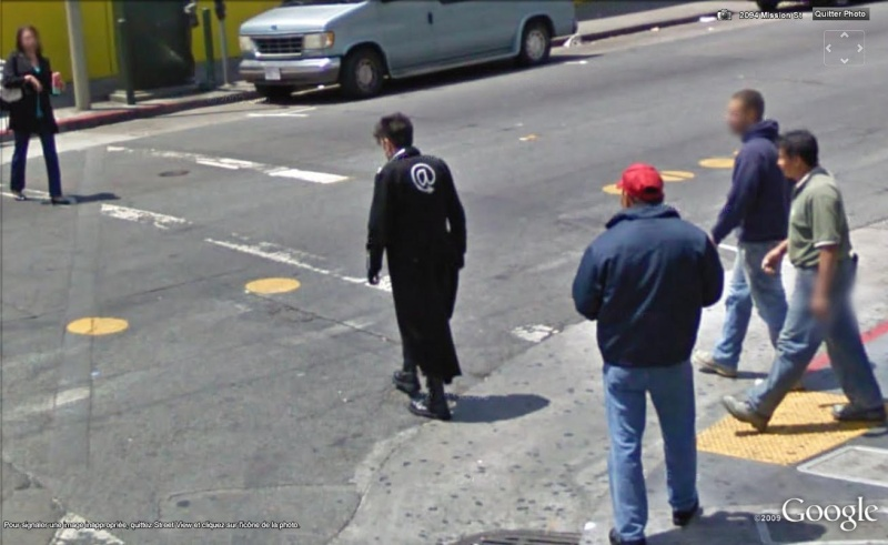 STREET VIEW: gens bizarres, Dracula, San Francisco, Californie, USA Dra210