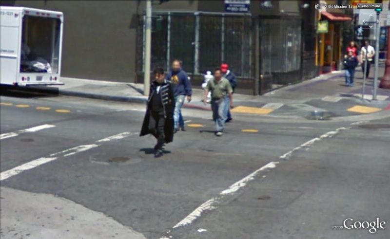 STREET VIEW: gens bizarres, Dracula, San Francisco, Californie, USA Dra310
