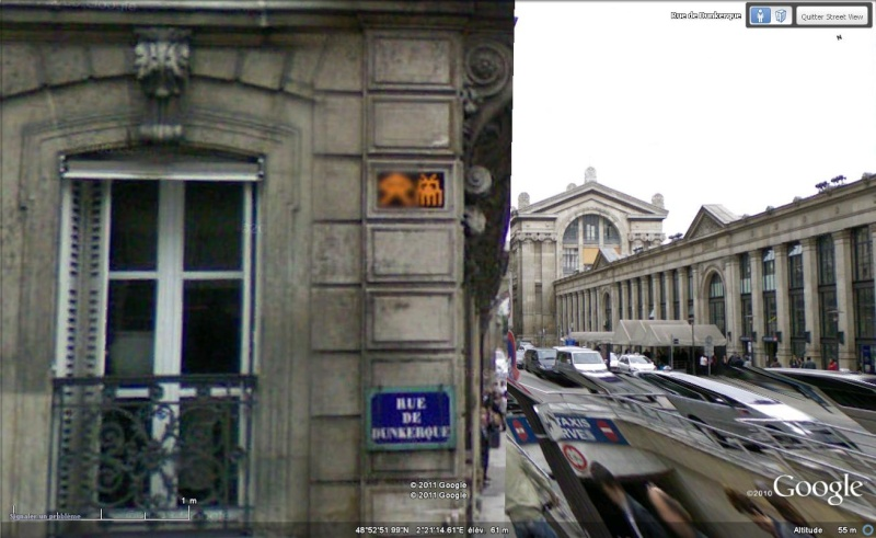 STREET VIEW : l'invasion des Spaces Invaders Inva310