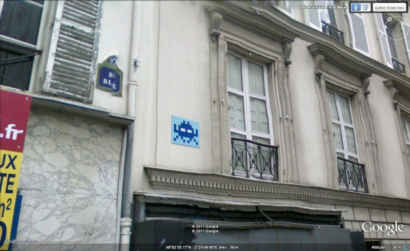 STREET VIEW : l'invasion des Spaces Invaders Inva610