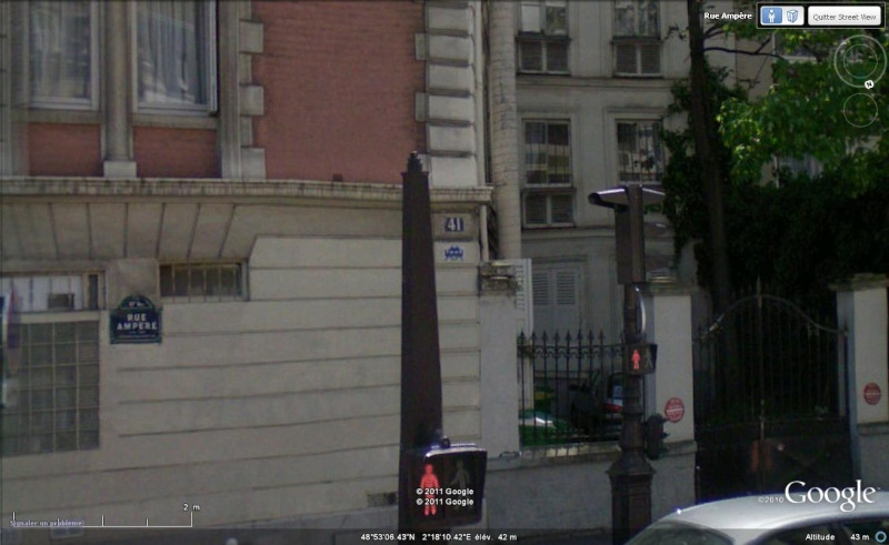 STREET VIEW : l'invasion des Spaces Invaders Space210