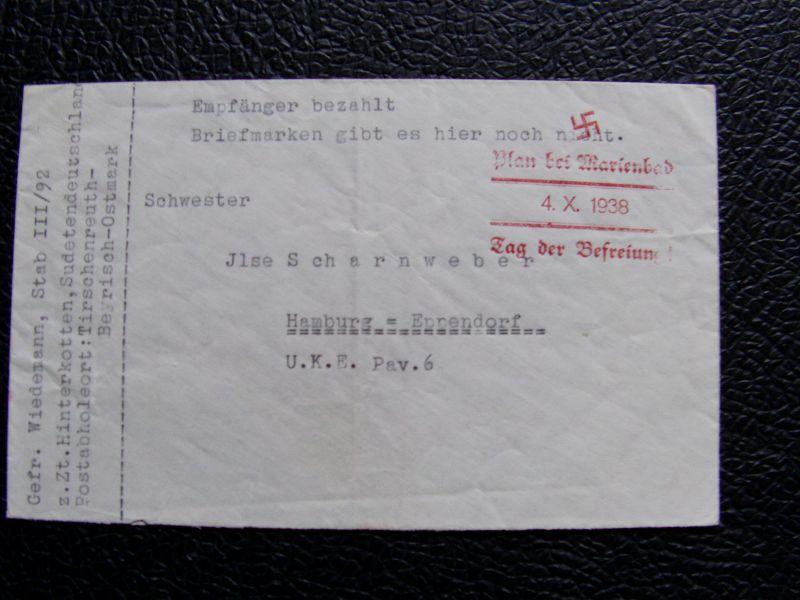 sudetenland - Stempel - Sudetenland nach Hamburg Imag0012