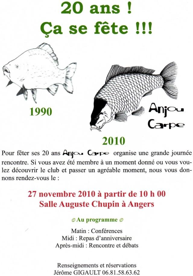 Le club Anjou Carpe Fêtes ces 20 ans: 27 nov 2010 Angers Img01010