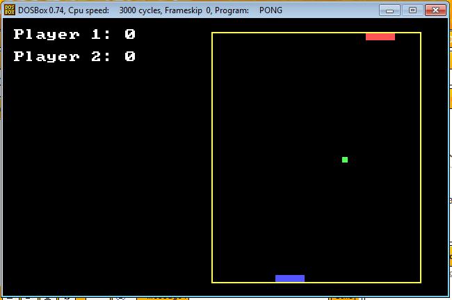 [DOS Game] Pong Battle! Unti_e10