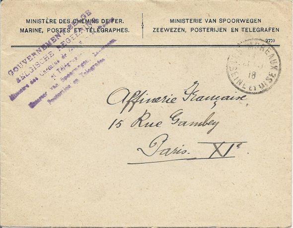 Gouvernement Belge au Havre Numari59