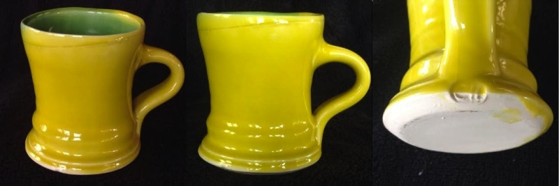 Campbell Hegan yellow and green mug Chegan10