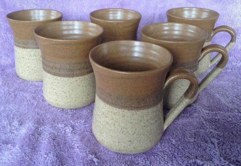 TWO handpotted Parker Pottery mugs Parker10