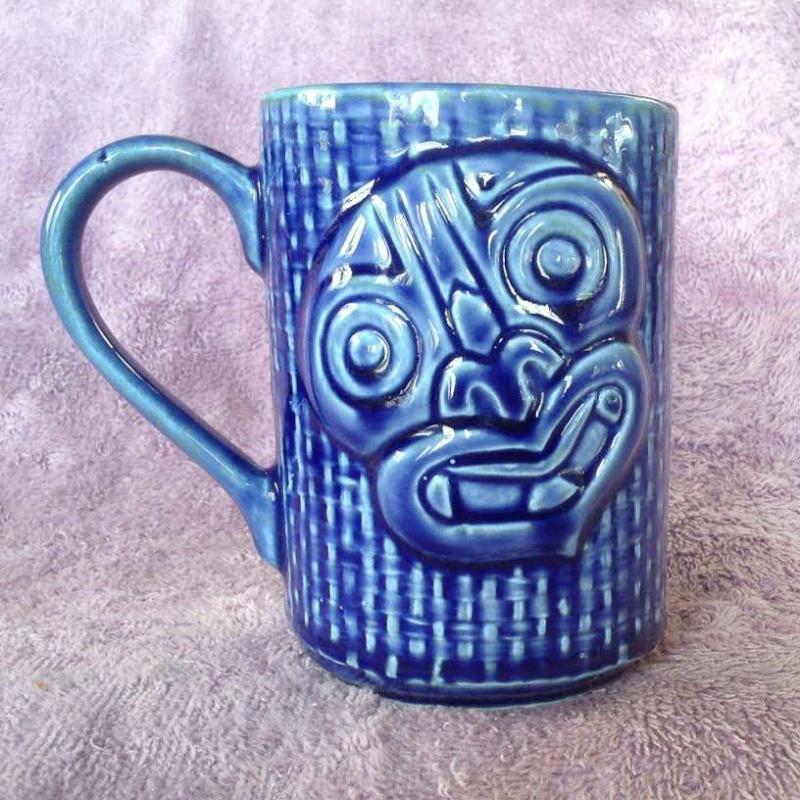 tiki mugs, Hawaiian style, including tiki farm and Studio Ceramics Tikis310