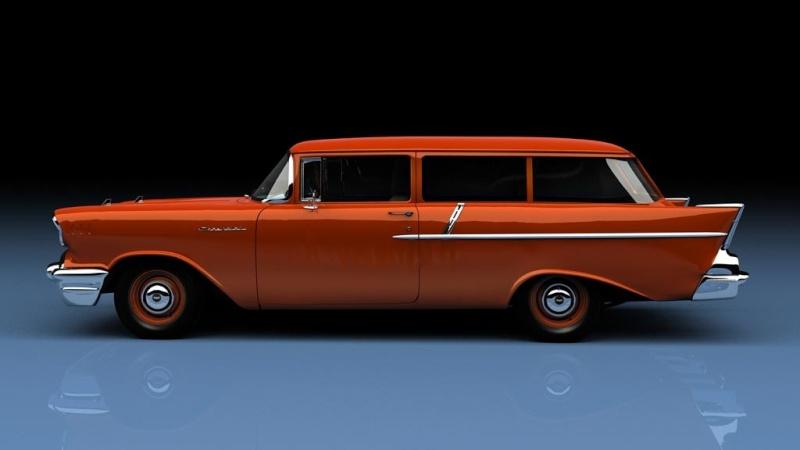 #7 : chevrolet 1957 150 station wagon Chevro10