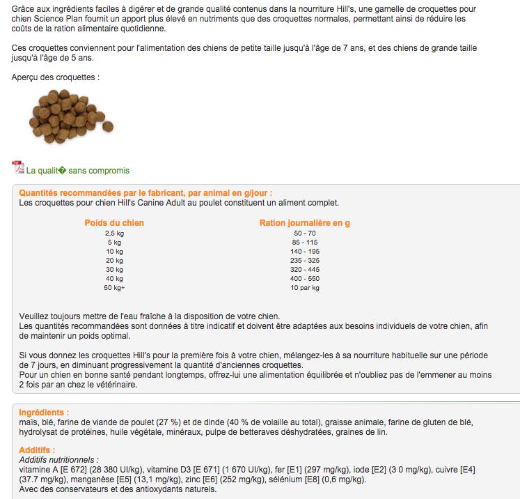 avis sur croquette maxima Scienc10