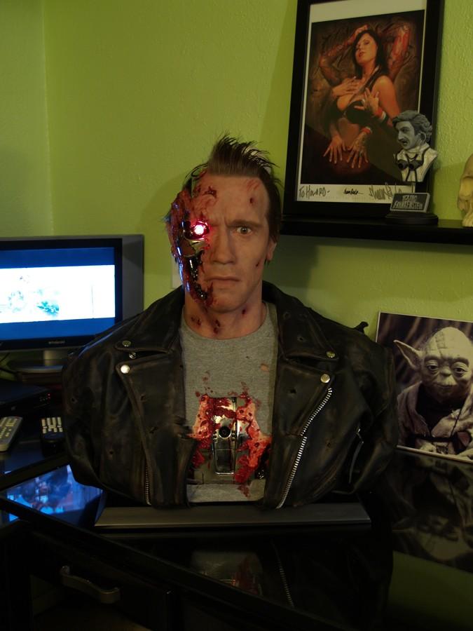 1:1 Arnold Schwarzenegger T-800 Silicone Bust HOWARD STUDIOS Arnie110
