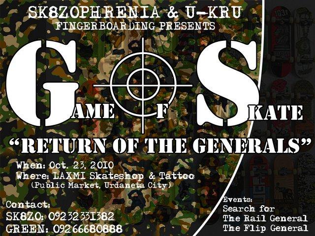 "sk8zophrenia's ""RETURN OF THE GENERALS"" FB BATTLE Sk8zo10"