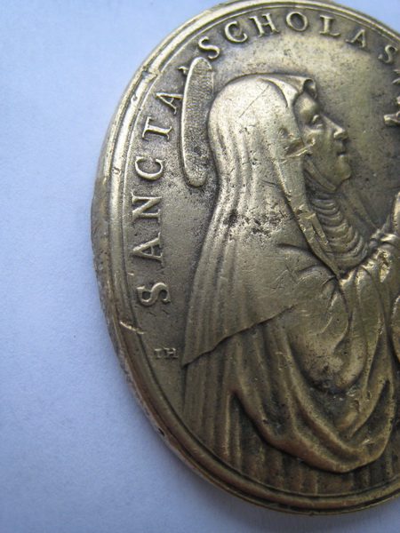 St Pater Benedictus/Sancta Scholastica - XVIIème - graveur à confirmer Pater_11