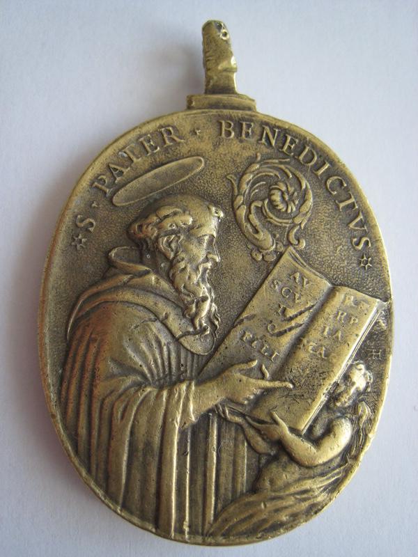 St Pater Benedictus/Sancta Scholastica - XVIIème - graveur à confirmer St_ben16