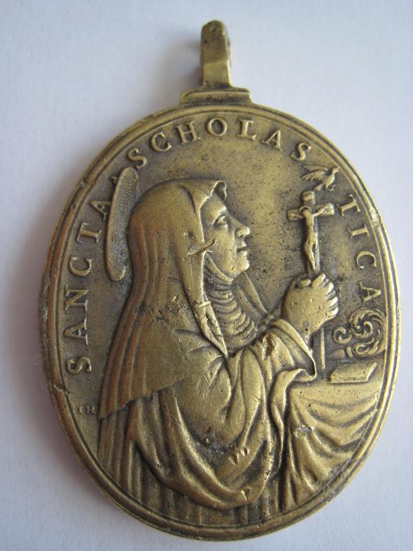 St Pater Benedictus/Sancta Scholastica - XVIIème - graveur à confirmer St_ben17