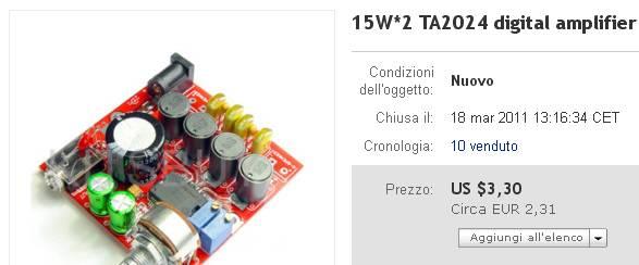 """Coming soon: Amplificatore Integrato """"Switters"""" con TA2024 a soli € 10,00 Switte10"""