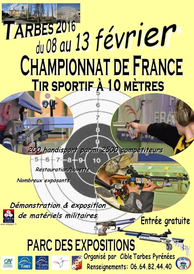 championnat de france indoor Tarbes  Affich10
