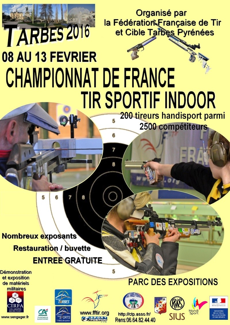 Affiche Championnat de France à Tarbes du 08 au 13/02/2016 Affich11