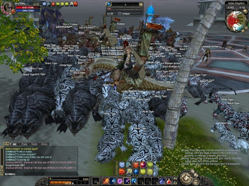 look whate happend when GM spawn like 30 Uniques at town^^ Sro20110