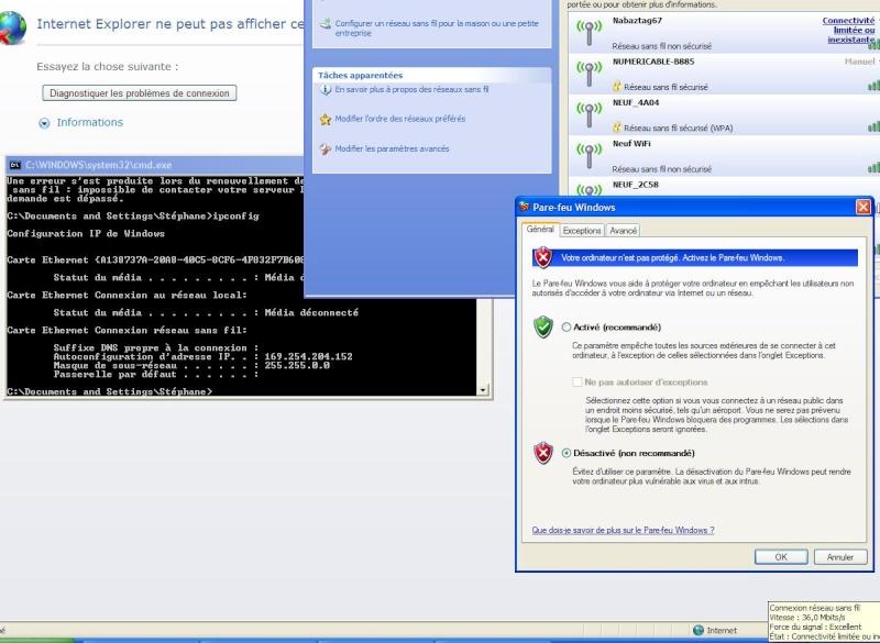 Impossible de contacter votre serveur DHC Nab6710
