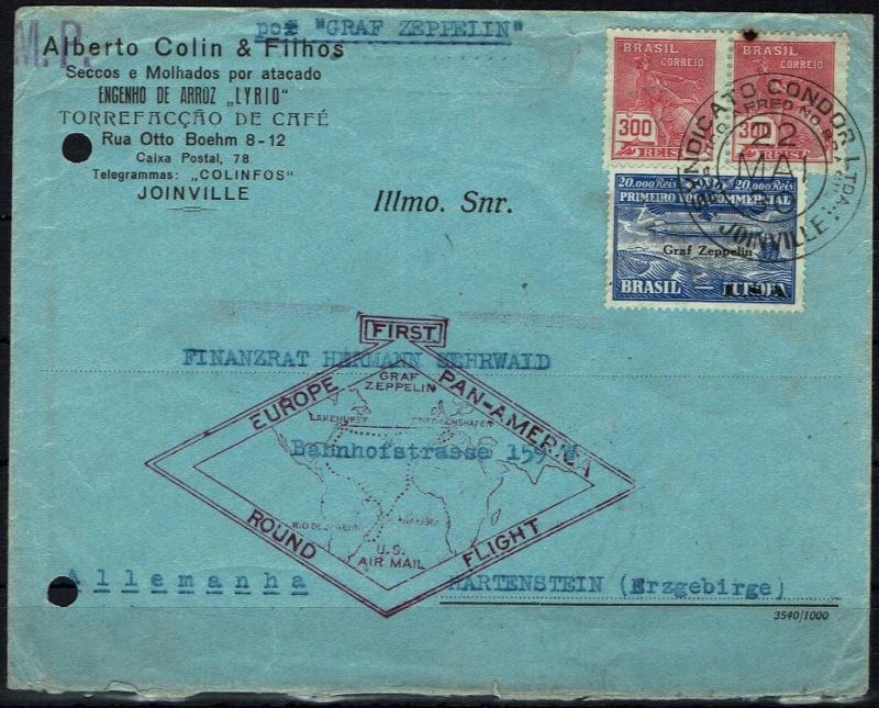 """nach - Südamerikafahrt 1930 (Rundfahrt-) Post nach Friedrichshafen"""" - Seite 6 59_f_j10"""