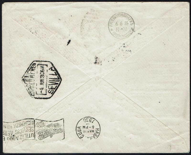 """Südamerikafahrt 1930 (Rundfahrt-) Post nach Friedrichshafen"""" - Seite 5 64_iii10"""