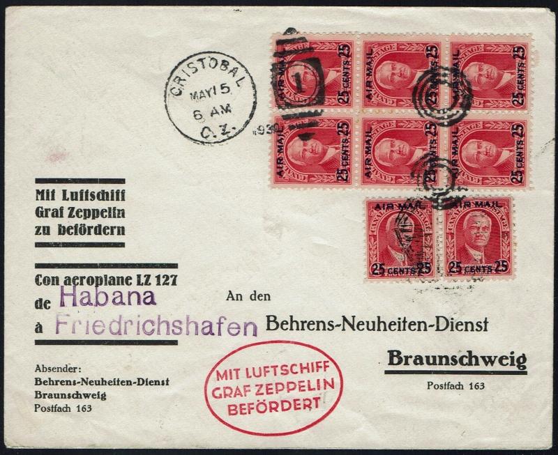 """Südamerikafahrt 1930 (Rundfahrt-) Post nach Friedrichshafen"""" - Seite 5 64_iii11"""
